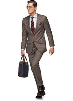 Suit Light Brown Faux Uni Lazio P3450i | Suitsupply Online Store