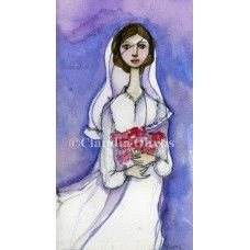 Bride, watercolor on paper $20.-