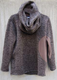 zero - Circular Cut Snood Sliver Pullover Knit - Brown - 29,800JPY