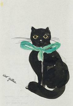 Drawing of a Cat, circa 1965 - Ettore Sottsass