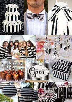 Black and White Stripe Wedding Theme