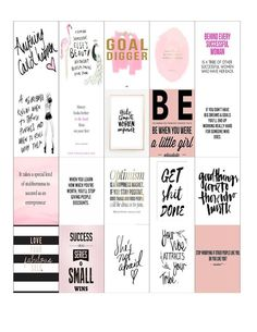 Free Printable Girl Boss & Coffee Planner Stickers {set two from Malena Haas