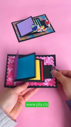 Cool Paper Crafts, Paper Crafts Origami, Origami Art, Scrapbook Paper Crafts, Diy Crafts Hacks, Diy Crafts For Gifts, Book Crafts, Creative Crafts, Diy Gifts Videos