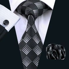 "This is a brand new men's silk tie set. Set includes coordinating tie, handkerchief and cuff link. Tie length is 61"" from end to end, and 3.25"" width at the widest part of the tie. **Please note, this item requires three (3) weeks to ship. Please take shipping time into consideration prior to placing your order. Thank you ~ This item is available for international shipping! 