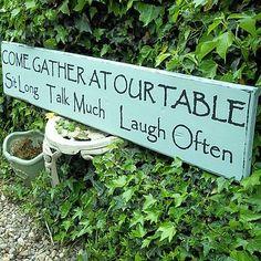 Sit, talk, laugh... make for dining room