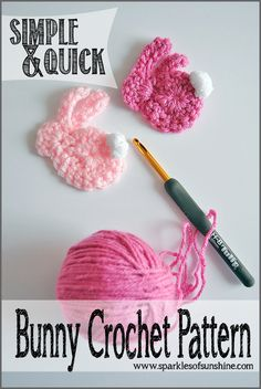 Simple & Quick Bunny Crochet Pattern at Sparkles of Sunshine. Crochet a…