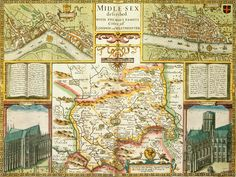 Map of London and Middlesex by John Speed - British Library Prints