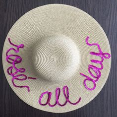 Floppy hat Rose All Day by shoplululuxe on Etsy