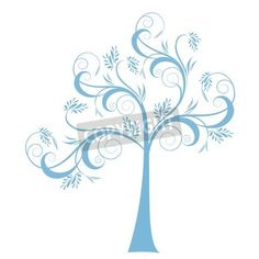 Beautiful art tree isolated on white background via MuralsYourWay.com