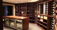 Custom Wine Cellars | Custom Wine Cellar - Wenge Wood - modern - wine cellar - other metro ...