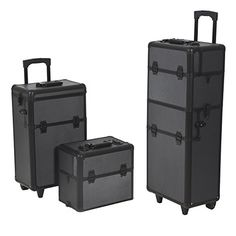 http://www.thebeautysource.info/best-choice-products-rolling-cosmetic-makeup-case-2-in-1-make-up-artist-case-aluminum-construction-bk-review/ - This 2-in-1 case is great for all you beauty professionals. These cases fit together to create one case that rolls...