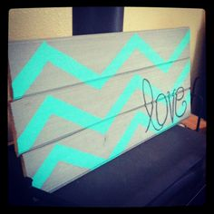Chevron painted sign