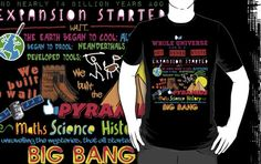 The Big Bang Theory Theme Song T Shirt | A very creative design featuring the lyrics to the theme music of the nerdy TV show. | Visit http://shirtminion.com/2015/02/the-big-bang-theory-theme-song-t-shirt/