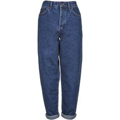 Baggy Jeans by Boutique (€47) ❤ liked on Polyvore featuring jeans, pants, bottoms, trousers, mid stone, zip jeans, zipper fly jeans, boutique jeans, blue jeans and baggy jeans