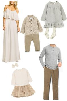 Oct 2017 - Whether you have a family session booked with me or someone else this fall, here are some family outfit ideas I put together to give you some inspriation when choosing what to wear. All links can b… Family Photography Outfits, Family Portrait Outfits, Fall Family Portraits, Clothing Photography, Neutral Family Photos, Family Pictures What To Wear, Fall Family Photos, Family Family, Outfits For Family Pictures