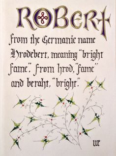 Name Plaque for Robert by NewDawnMedievalArts on Etsy Name Plaques, Meant To Be, Names, Handmade Gifts, Artwork, Etsy, Kid Craft Gifts, Work Of Art, Auguste Rodin Artwork
