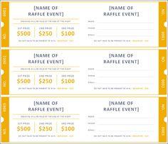 raffle ticket template