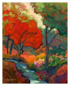 Louisiana Edgewood Art - LS102 summer song acrylic by km schmidt