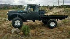 Ford: F-100 Base Standard Cab Pickup 2-Door 1965 ford truck f 100 flat bed 4 wd 4 x 4 flatbed pickup hauler off road