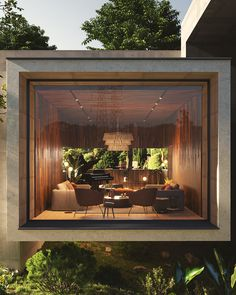 Add comfort and style to your living room! Design Exterior, Interior And Exterior, Home Room Design, Home Interior Design, Residential Architecture, Interior Architecture, Concrete Architecture, Casas Containers, Design Hotel