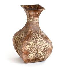 Rustic Brown Metal Vase | Kirkland's