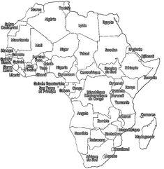 Coloriage carte de l'Afrique à imprimer Maths, Tour, Diagram, Animation, Culture, Architect House, Store, World, Animation Movies