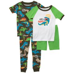 Snug-Fit Cotton 4-Piece Pjs Dad's Little Monster (BOYS)