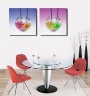 2 Frames Stretched Canvas Print