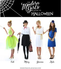 Merrick's Art // Style + Sewing for the Everyday Girl: DIY FRIDAY: 4 EASY DIY HALLOWEEN COSTUMES