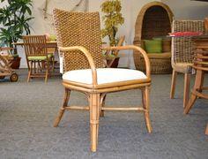 Rattan Dining Chair Wicker Furniture Indoor Armchair 229