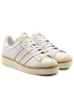 Redirecting you to Stylebop for Adidas Originals Superstar Leather Sneakers. Leather Sneakers, Adidas Originals, Adidas Sneakers, Shoes Sneakers, Trainers Adidas, 1980s Shoes, White Leather Shoes, White Shoes