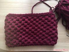 Мастер-класс по вязанию сумочки из трикотажной пряжи - Вязание - Страна Мам