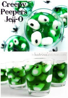 Creepy Peepers Halloween Jello | Recipe via inkatrinaskitchen.com