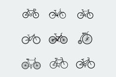 9 Bicycle Icons @creativework247