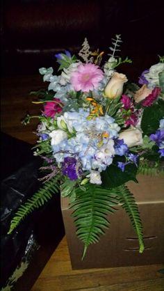 Hydrangea mixed wildflowers