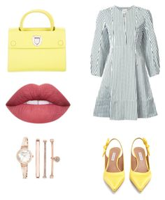 """""""Yellowish!"""" by hayfaaa on Polyvore featuring Khaite, Tabitha Simmons, Anne Klein and Christian Dior"""