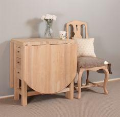 Kätevä pöytä vaikkapa pieneen keittiöön. Toimii loistavasti varapöytänä. Kun pöytää ei tarvita, sen voi nostaa seinustalle, jolloin se palvelee vaikkapa sivupöytänä.   Materiaali: tervaleppää   Mitat: Täyspitkänä 160x75 cm, kork. 78 cm. Molemmat klaffit alhaalla: n. 48 x 75 cm. Keskiosan lev. 40, klaffit 60 cm. Decor, Furniture, Table, Home Decor, Nightstand
