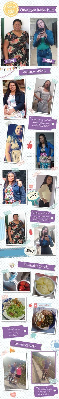 Superação Karla Pitta: mais de 50Kg em menos de 10 meses - Blog da Mimis #superação #blogdamimis #emagrecer #dieta #perderpeso #alimentação #saudável