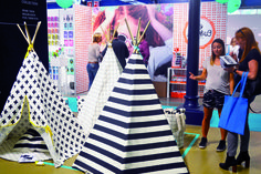 Wildfire Teepees at Playtime Paris, summer 2016. #Fashion #Kids #Children #clothing #Tradeshow #Paris