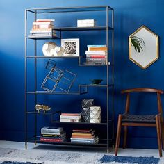 Tiered Tower Bookcase #westelm $599 42w x 14d x 69.5h