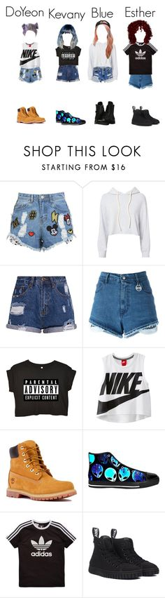 """""""DLXX YTHENTERTAIMENT Audition"""" by officialdlxx ❤ liked on Polyvore featuring Levi's, Monrow, GCDS, NIKE, Timberland, adidas Originals, Capezio and ythaudition"""