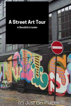 street art in the trendy area of Shoreditch in London