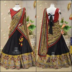Your Official Guide to Find Best Half Saree Blouse Designs Indian Fashion Dresses, Indian Bridal Outfits, Indian Gowns Dresses, Indian Designer Outfits, Prom Dresses, Lengha Blouse Designs, Half Saree Designs, Choli Designs, Half Saree Lehenga
