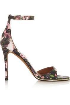 Givenchy | Floral-print leather sandals | NET-A-PORTER.COM