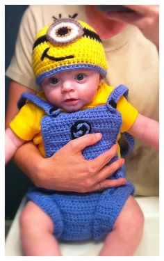 Bahahaha!  Minion Hat and Overalls by Evermicha on Etsy, $45.00 - I would so dress my kid in this lol