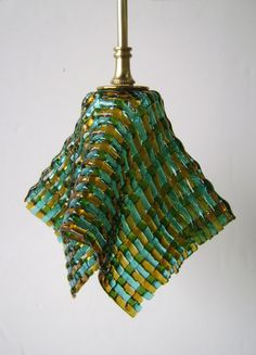 Woven Glass Pendant Light