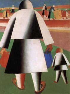 Kasimir Malevich. Harvest season;gezien Drents Museum Assen NL