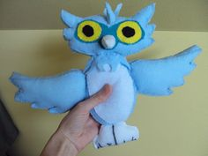 Monster high  owl Sir Hoots A Lot custom plush felt toy. $16.95, via Etsy.