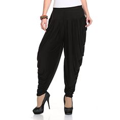 Ardour Black Relaxed Comfortable Cotton Blend Dhoti Pants Yoga Fitness Activewear for Women Dance  Free Size *** Read more reviews of the product by visiting the link on the image. (This is an affiliate link) #FashionActive