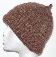 Traditional knit Monmouth cap